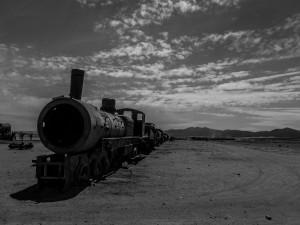 Uyuni, train cemetery