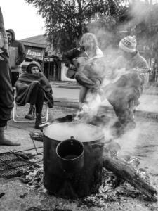 Sit-in di protesta contro i Benetton nel Chubut