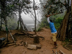 Nilo, early in the morning in his Takana village